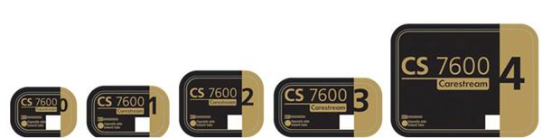 Carestream, Phosphor Imaging Plate, Size 1, V2, f/CS 7600, 4/pkg