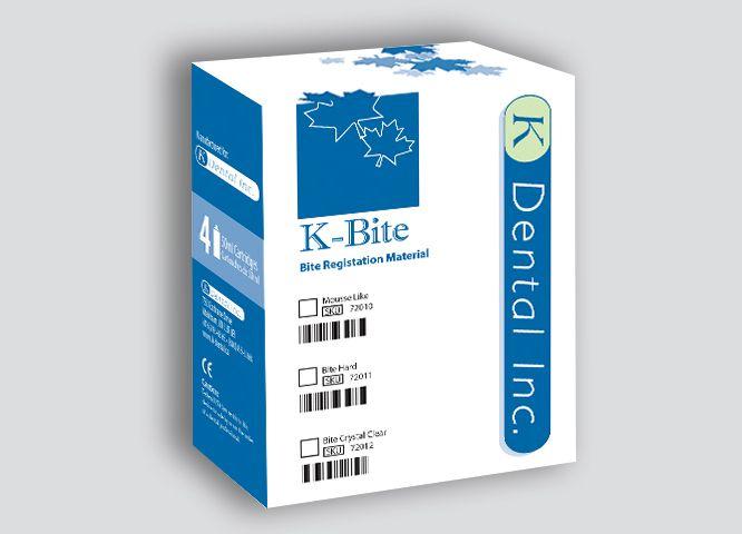 K-Bite, Bite Registration Material, Bite Hard, 4 - 50ml cart./box