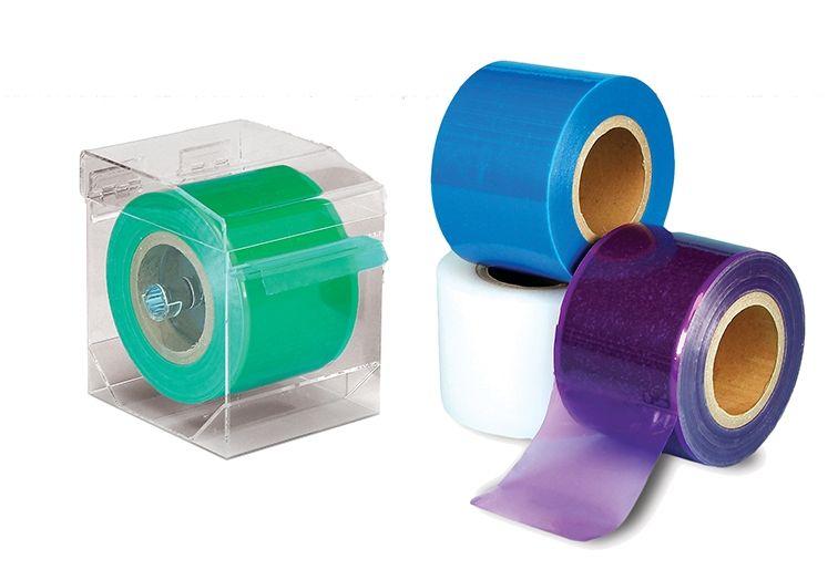 "Plasdent, Barrier film, Sticky Wraps, 4"" x 6"", Blue, Roll of 1200"