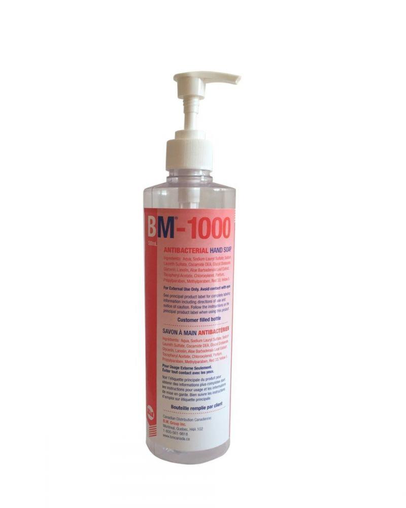 BM Group, Dispenser, Bottle, for Antibacterial Soap 1000, Pump, ea