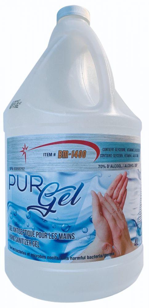 BM Group, BM 1400, Hand Sanitizer, PurGel, 4L Bottle, 70% alcohol USP