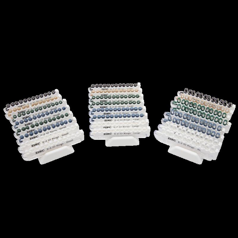 Zirc, E-Z ID, Rings, X-Large, Pastel System, 200/pk