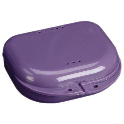Plasdent, Retainer Box, Chroma, Dark Purple, w/ Label, 12/pc