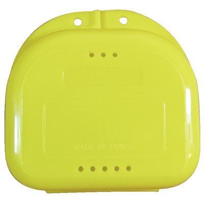 Plasdent, Retainer Box, Chroma, Bright Yellow, w/ Label, 12/pc
