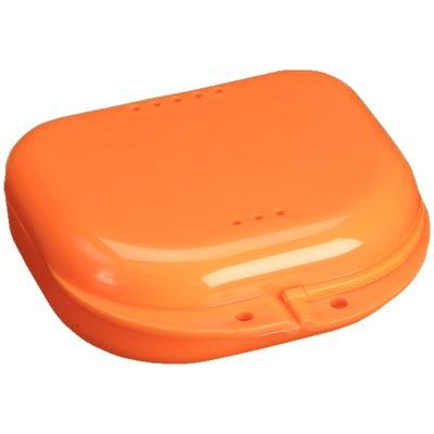 Plasdent, Retainer Box, Chroma, Orange, w/ Label, 12/pc