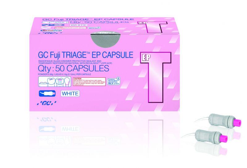 GC, Fuji TRIAGE, Glass Ionomer, Protective Sealant Material, White, 50 Capsules