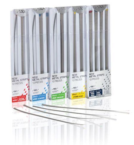 GC, Metal Strips, #300 (90 micron), Coarse, Blue, A-width (2.6mm), 12/pkg