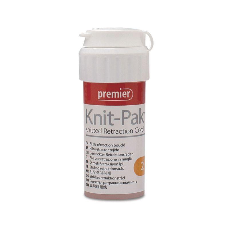Premier, Knit-Pak, Plus, Impregnated, Retraction Cord, #2, Orange