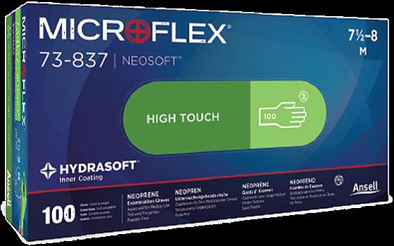 Ansell, Gloves, NeoSoft, Neoprene, Latex Free, PF, Large, Non-Sterile, 100/Bx