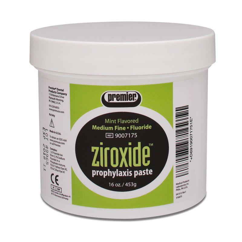 Premier, Ziroxide, Jar, Mint, Medium-Fine, w/Fluoride, 1lb