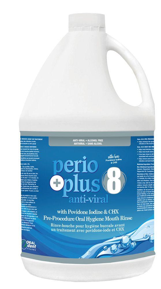 OralDent, PerioPlus 8, Povidone Iodine, Rinse, 4L Bottle