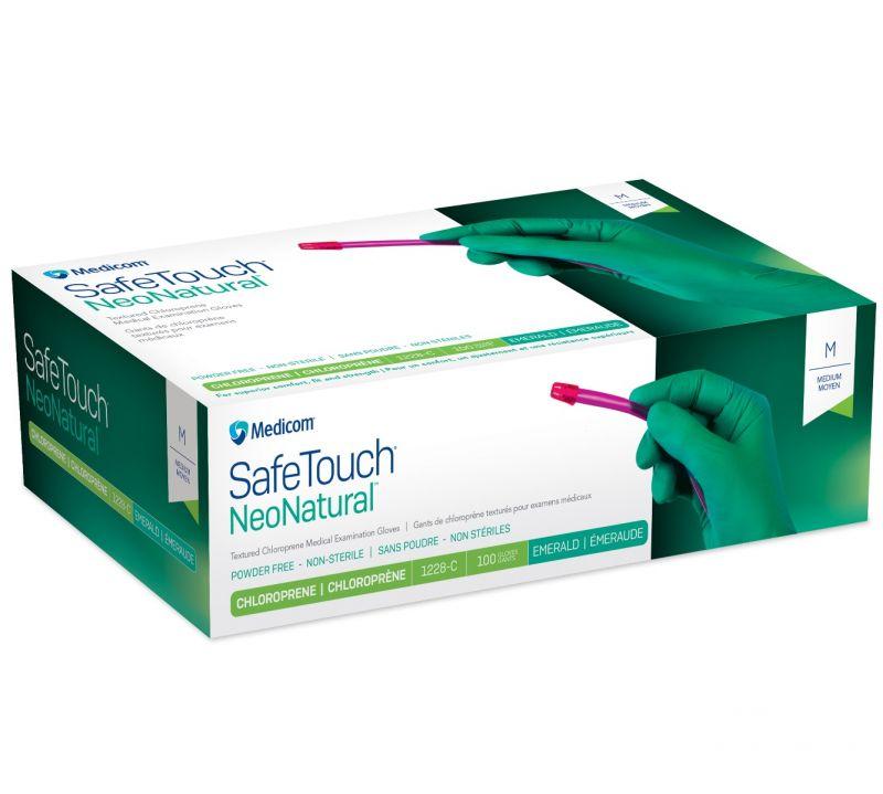 Medicom, Gloves, Safetouch, NeoNatural, Chloroprene, P/F, X-Large, 100/Box