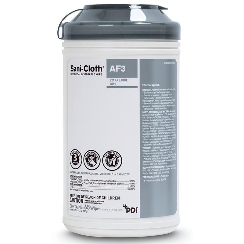 PDI, Sani-Cloth, Germicidal Disposable Wipe, AF3, X-Large, 7.5