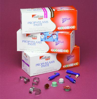 Sultan, Topex Prophy Paste, Cups, Mint, Fine, 200/box