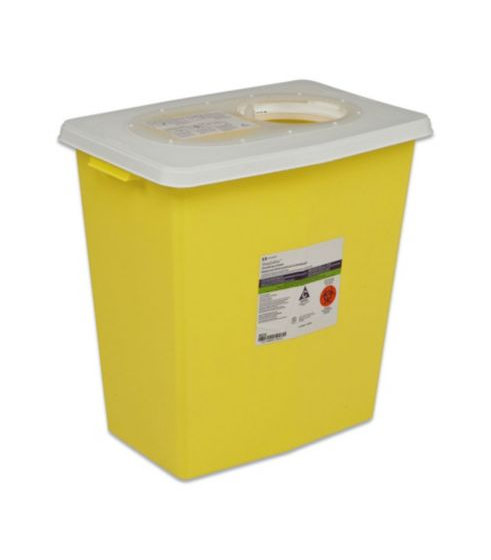 Tyco, Sharps container, Yellow, 8 Gallon